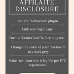 Formatting Your Affiliate Disclosure