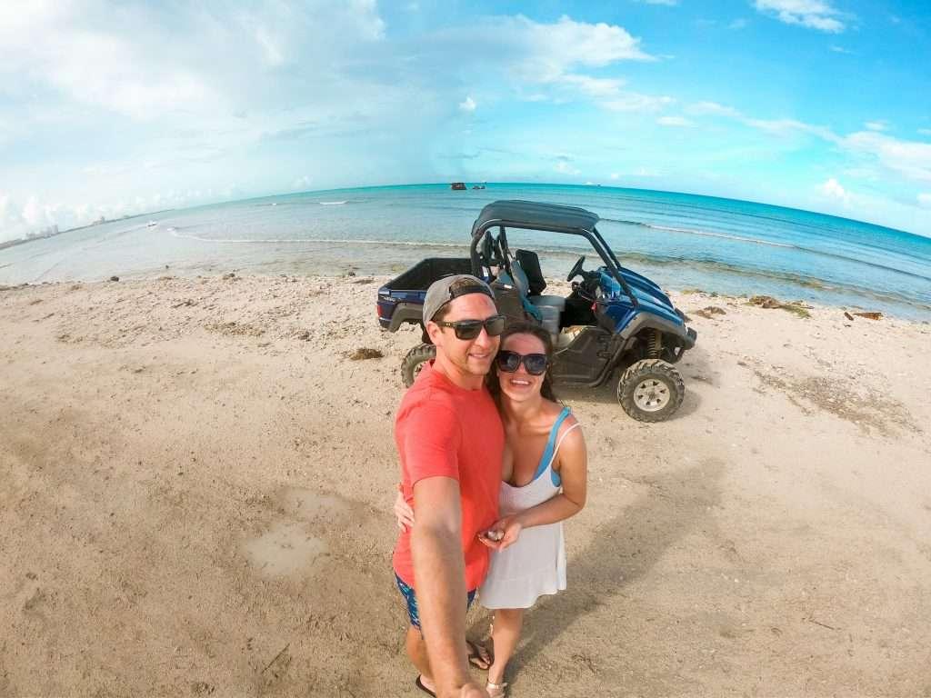 Drive an ATV in Tres Trapi Aruba on the Beach