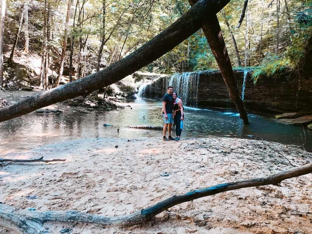 Princess Falls- Southern Daniel Boone National Forest - Kentucky Hiking, Hiking in Kentucky, Hiking trails in Kentucky, best hiking in Kentucky, best hikes in Kentucky, waterfalls in Kentucky, Kentucky waterfalls, hiking trail with waterfalls