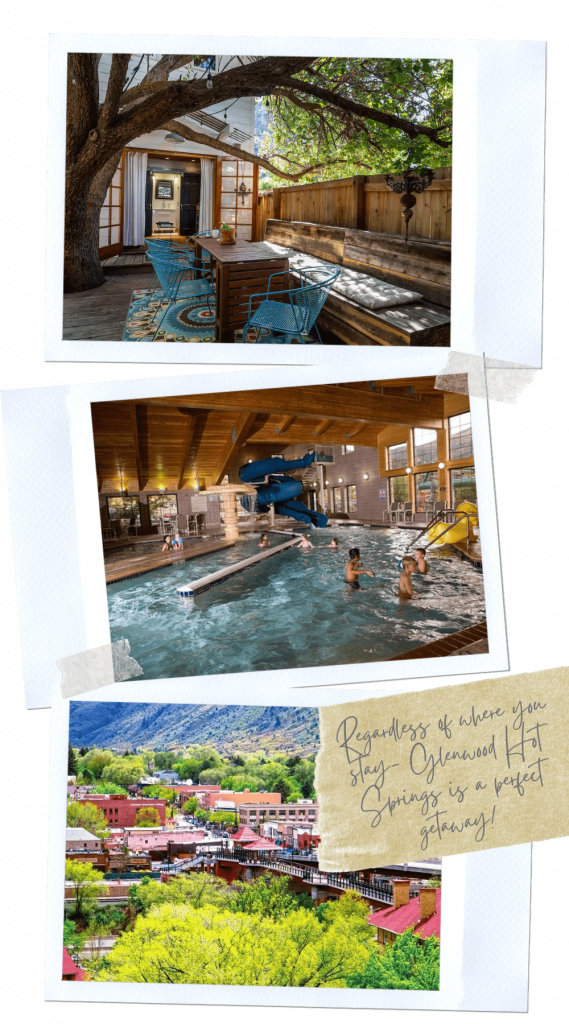 With over 27 natural hot springs in Colorado - your road trip has to include at least one! We chose the historic Glenwood Hot Springs. If you're traveling for a romantic couples trip - your best time to visit Glenwood hot Springs would be non-holiday weekdays. It's also a family friendly place to travel for family vacations. Hanging Lake Colorado, Yumpah hot Springs Caves, Yumpah Sauna Caves, Where to eat in Glenwood Springs #traveldestinations #roadtrips #traveltips #colorado #usaroadtrips