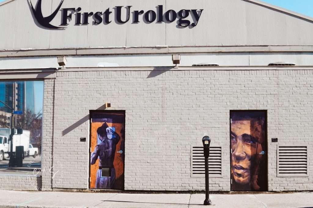 Muhammad Ali Door Murals - Louisville Murals