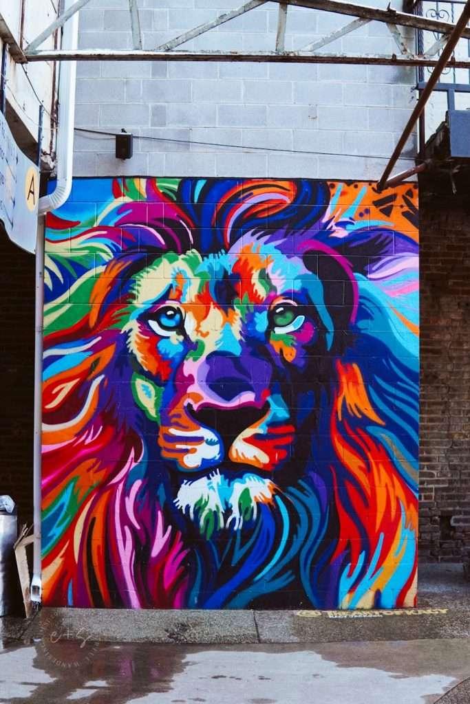louisville kentucky mural lion mural at mellwood center