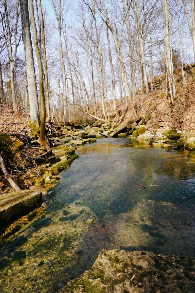 Creek Access for hiking Fairmount Falls