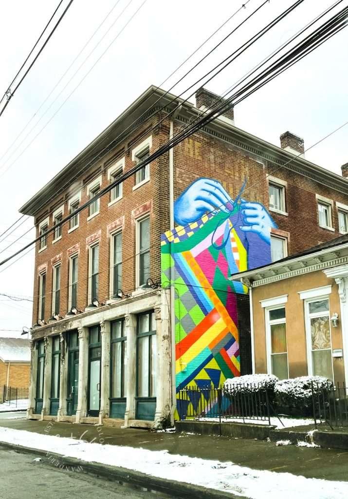 Colorful Geometric Knitting Louisville Mural