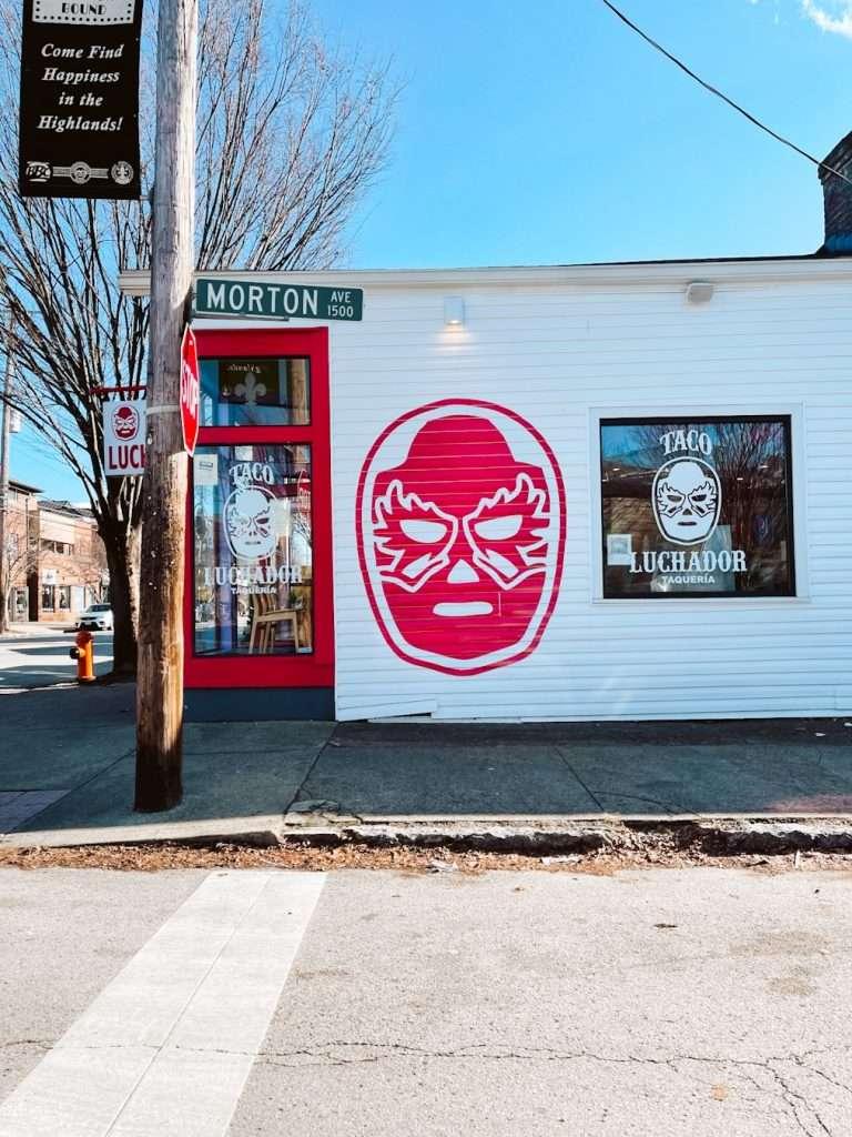 taco luchador mural louisville kentucky - best tacos in louisville