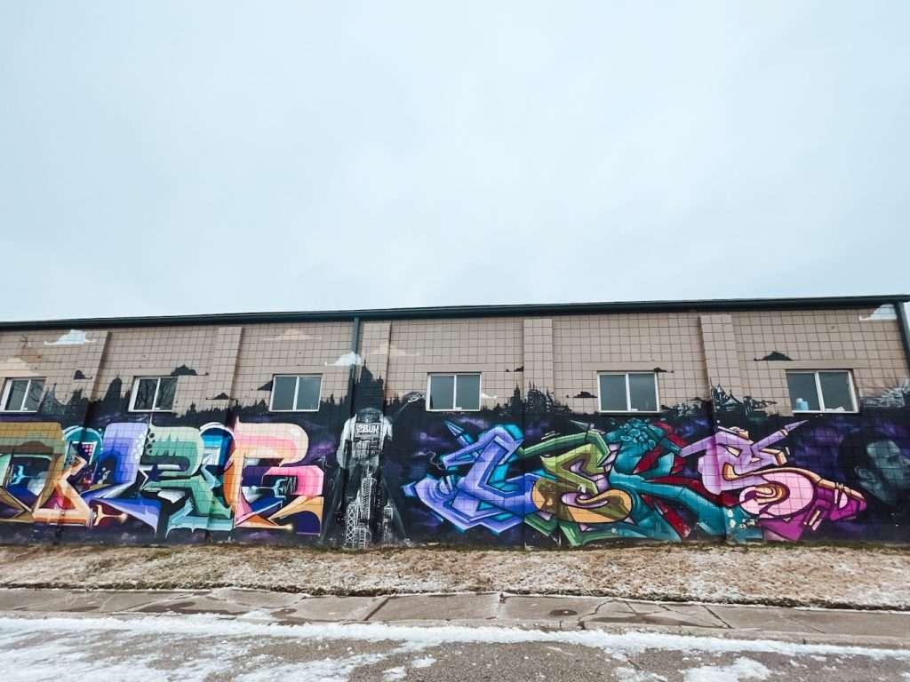 City Skyline Graffiti Louisville kentucky Mural