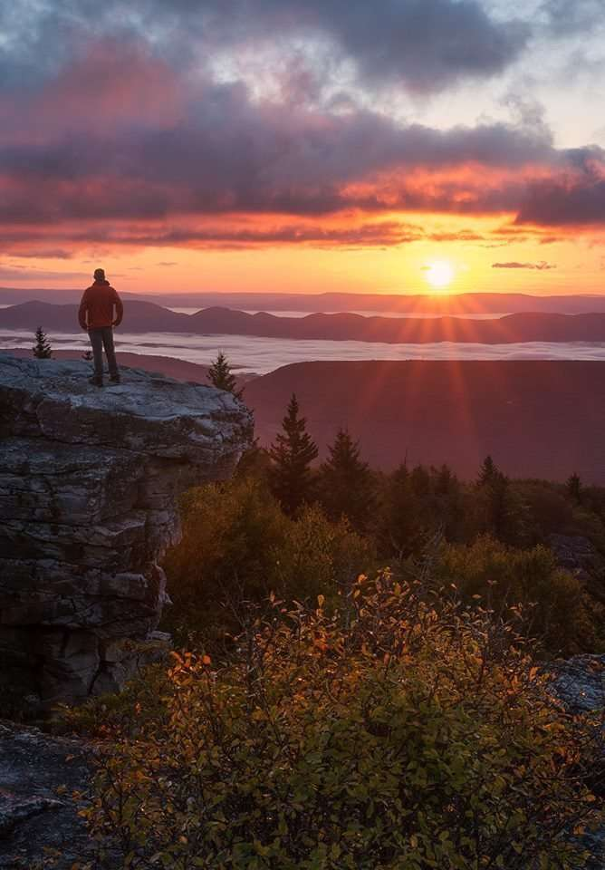 Best sunsets in the US, prettiest sunsets in the US, where to see the best sunsets in West Virginia, where to see the best sunsets in the USA
