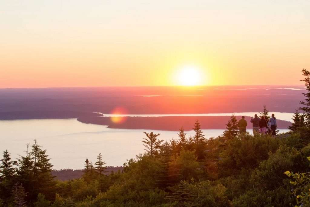 Best sunsets in the US, prettiest sunsets in the US, where to see the best sunsets in maine, where to see the best sunsets in the USA