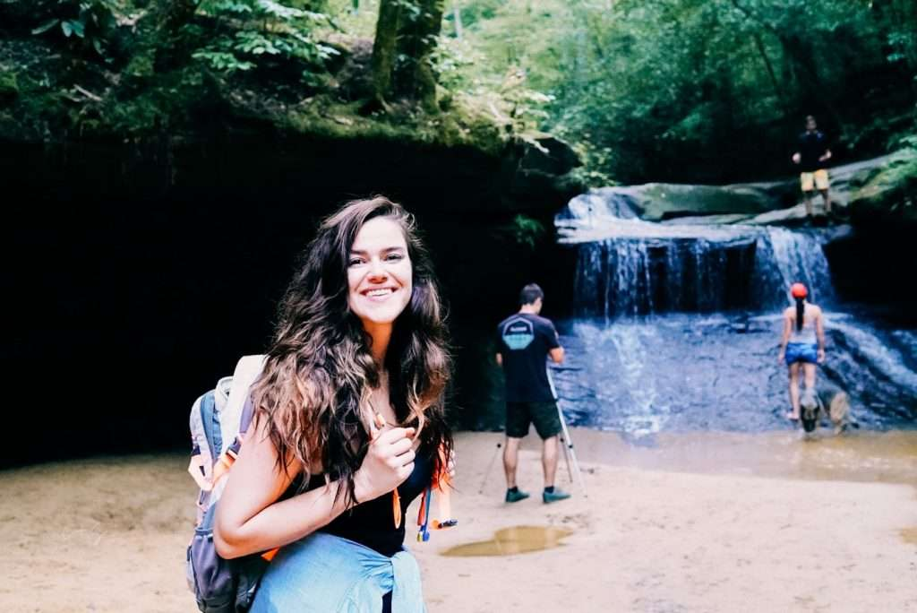 Creation Falls in Red River Gorge Kentucky -  Best Places to Hike In The US, Best Family Budget Vacations, Best Hikes US, Best USA Hikes, Hiking Destinations, Underrated vacation spots USA