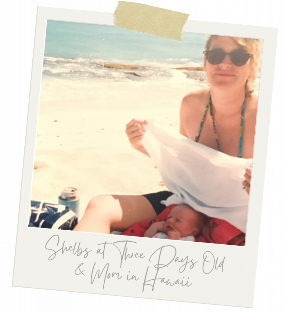 Shelbs & mom at the beach, what to bring to the beach, beach packing list, safety travel packing guide, packing list for beach, packing list for beach vacation