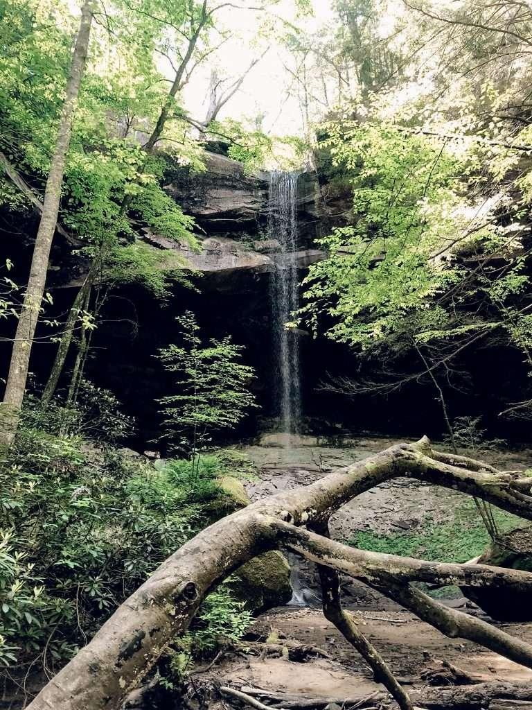 yahoo falls - Kentucky Hiking, Hiking in Kentucky, Hiking trails in Kentucky, best hiking in Kentucky, best hikes in Kentucky, waterfalls in Kentucky, Kentucky waterfalls, hiking trail with waterfalls