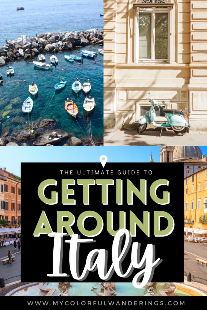Transportation in Italy, travel around italy, how to rent a car in italy, how to get around venice,