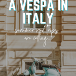 how to ride a vespa in italy - transportation in Italy, how to get around italy, trains in italy