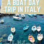how to take a boat day trip in Italy, transportation in Italy, how to get around italy, trains in italy