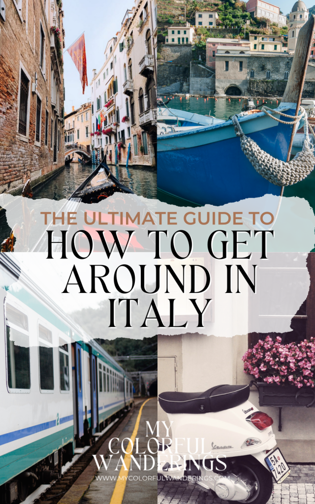 the ultimate guide for how to get around in italy,  transportation in Italy, how to get around italy, trains in italy
