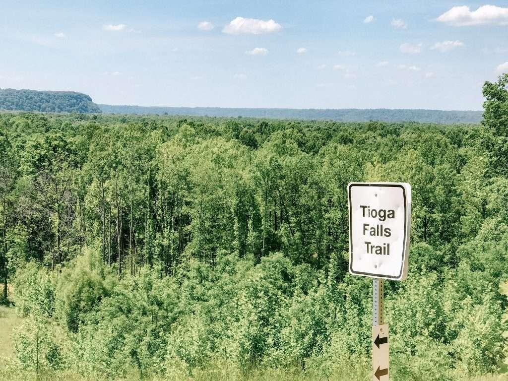 Tioga Falls Trail Detour