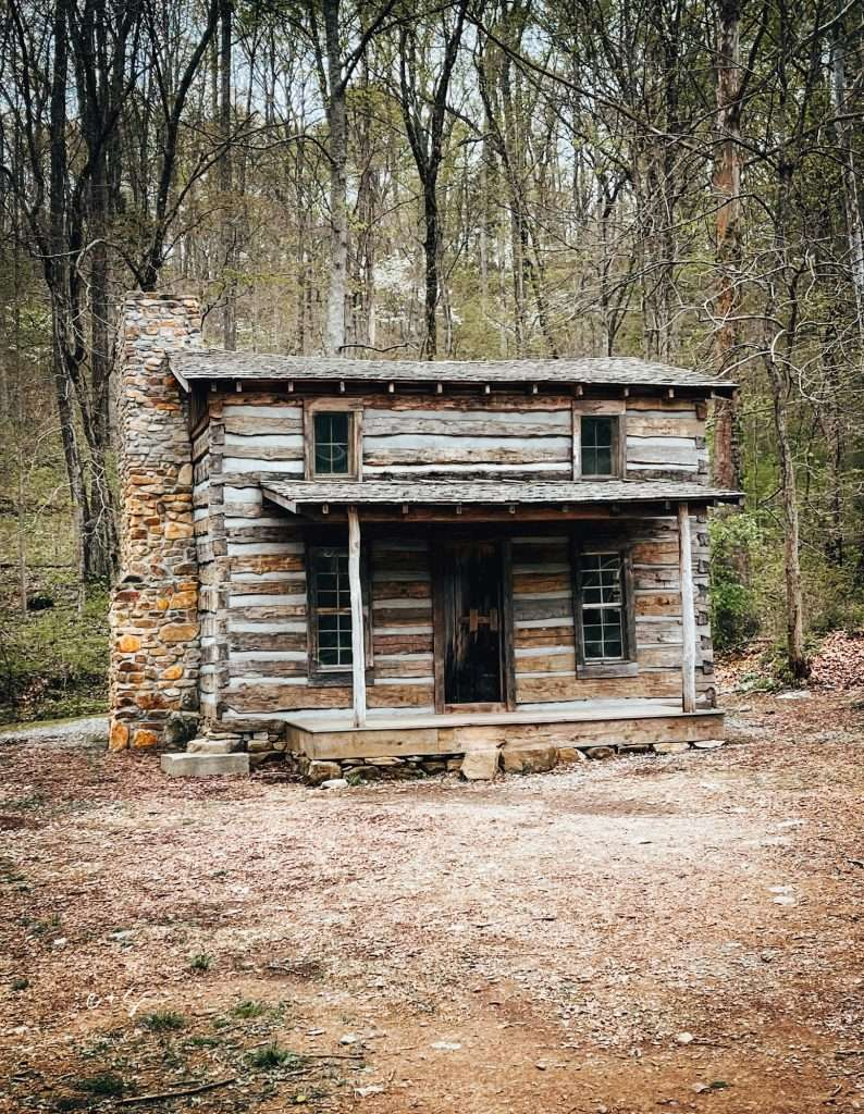 Preserved Colonial Cabins at Saunders Springs Nature Preserve Kentucky