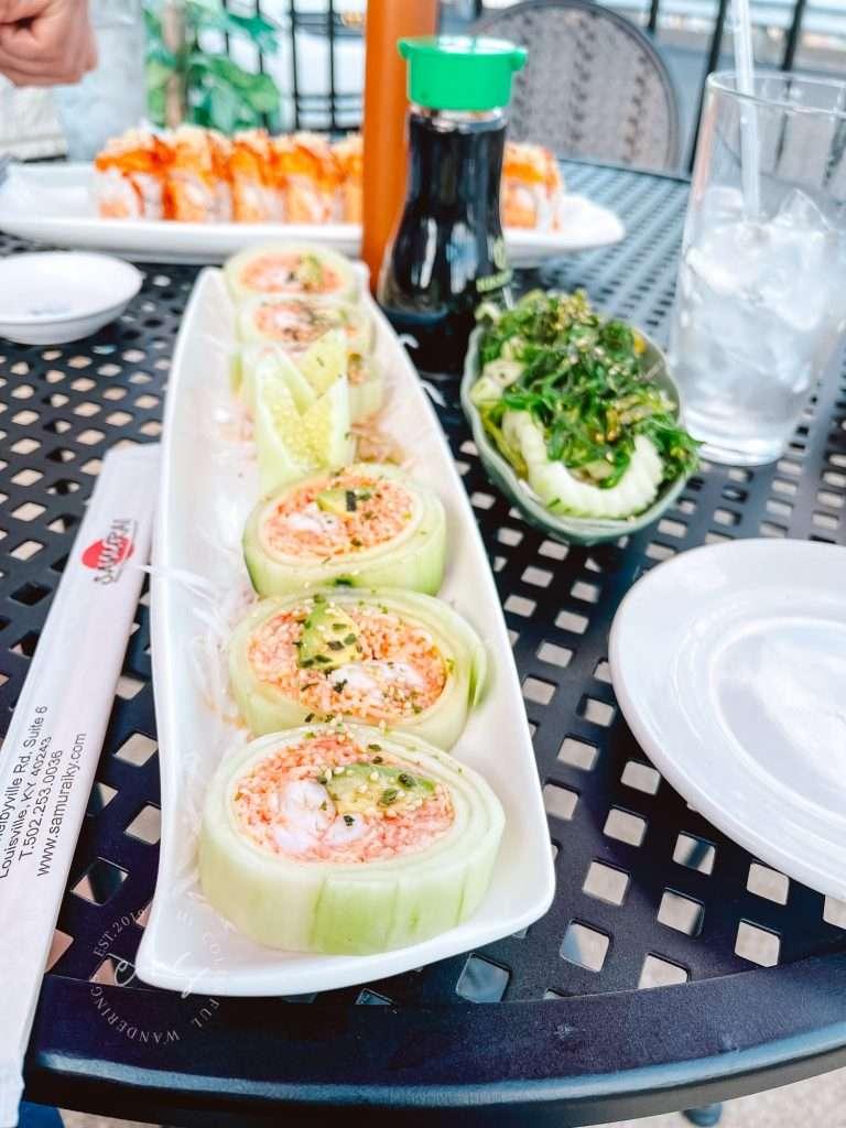 Samurai Sushi Cucumber Rolls healthy restaurants in Louisville, Keto restaurants in Louisville,