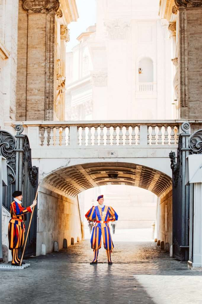 The Swiss Guard at Vatican City