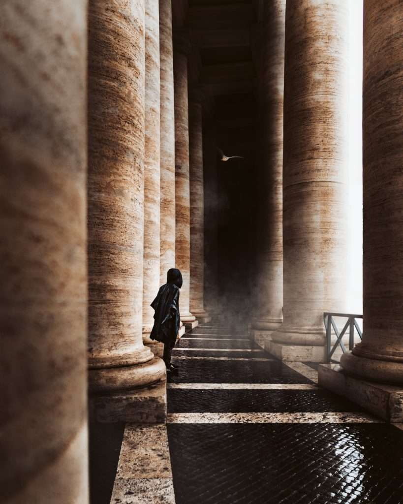 The magic of the columns in St. Peter's Square in Vatican City