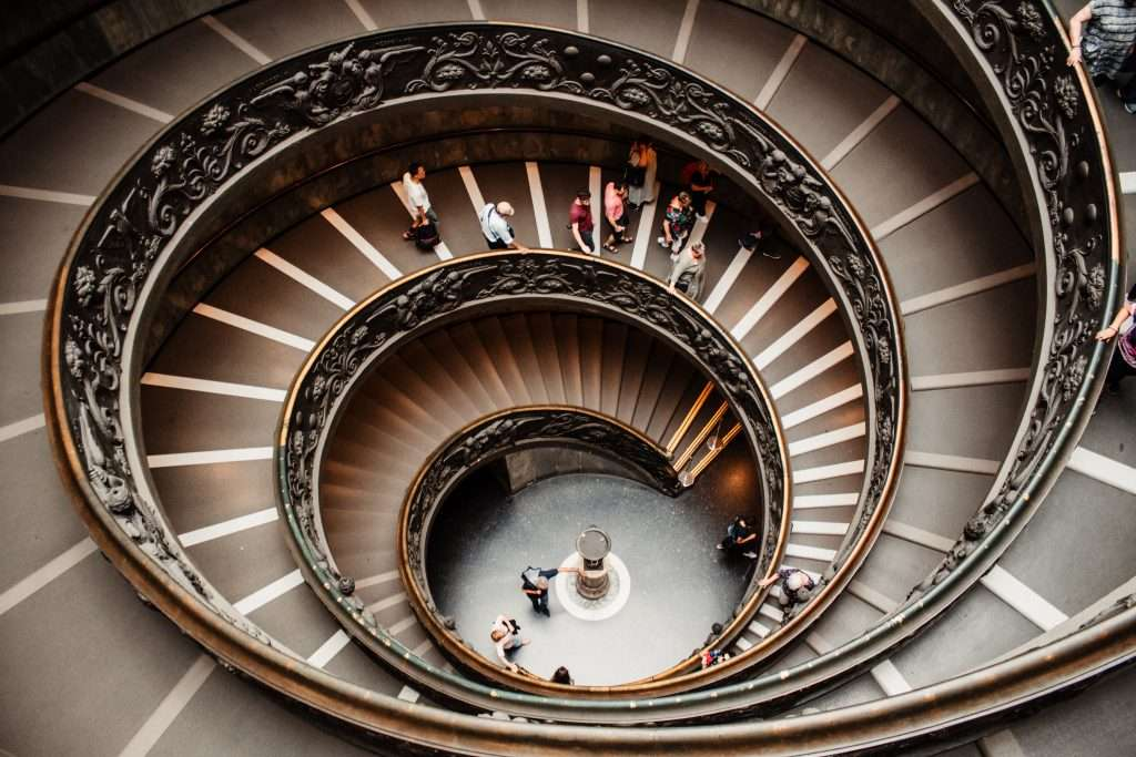 The staircase in the Vatican