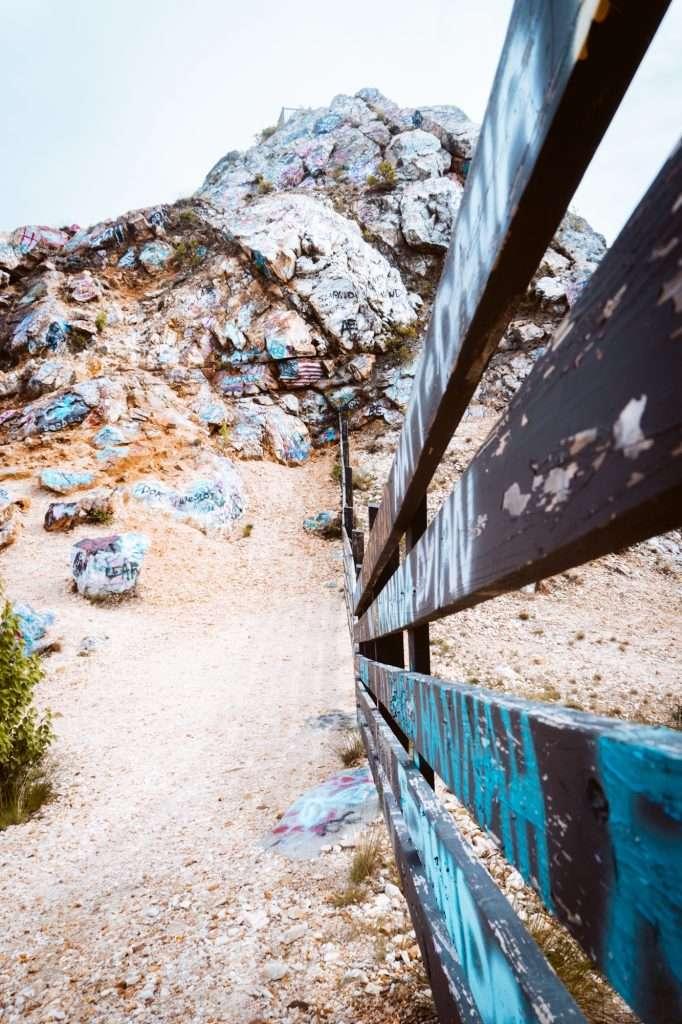 Graffiti at bell mountain
