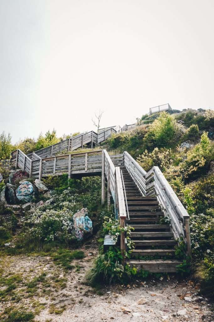 300 STAIRS TO THE UPPER OBSERVATION DECK AT BELL MOUNTAIN