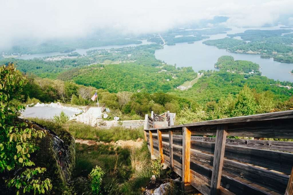 THE VIEW FROM THE UPPER DECK AT BELL MOUNTAIN