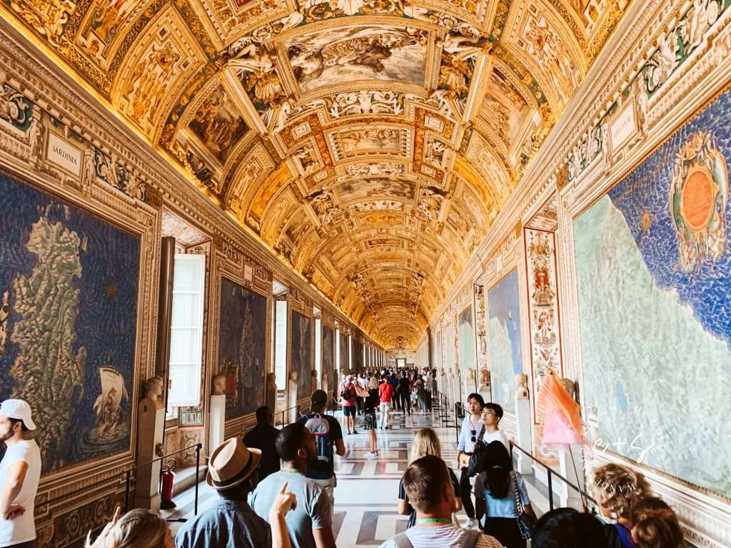 The hall of maps in the Vatican