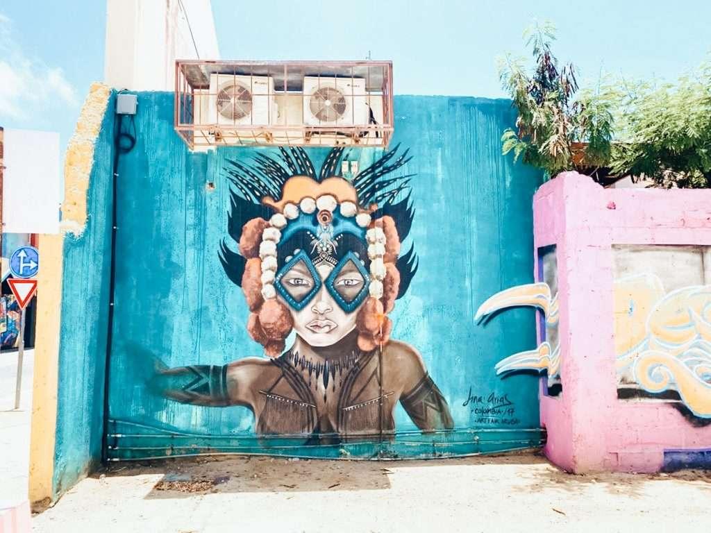 indigenous murals of san nicolas aruba, aruba itinerary