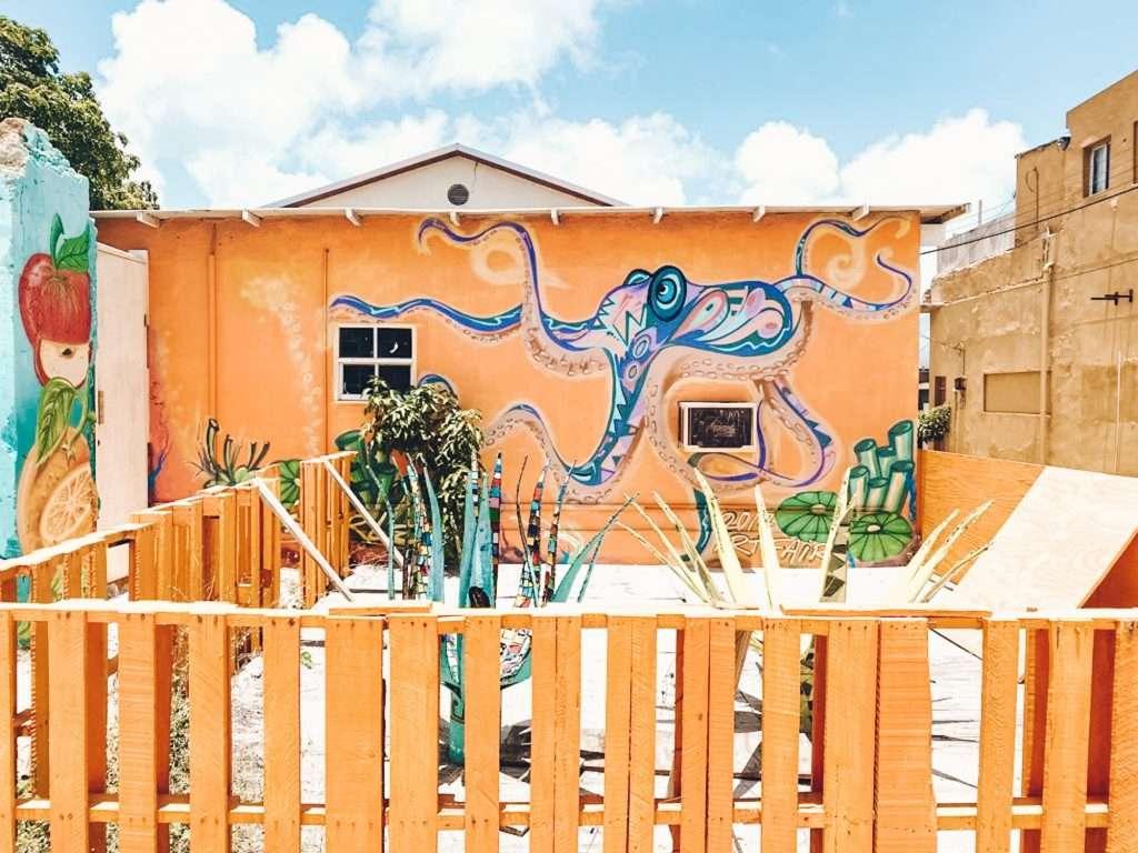 octopus mural in san nicolas aruba, what to do in aruba