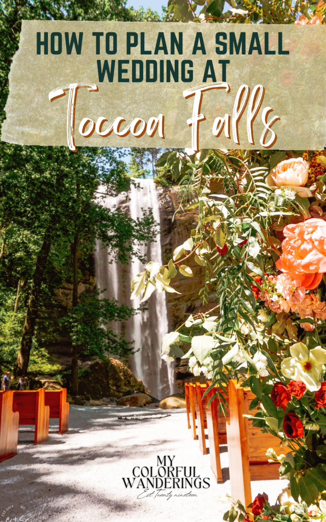 How to plan a wedding at toccoa falls
